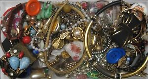 Lot x Scrap Vintage to Now Jewellery and Misc 1.1kg Craft Repair Harvest