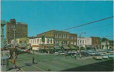 Walnut and Center Streets in Goldsboro NC Postcard
