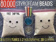 POLYSTYRENE BALLS Styrofoam BEADS for Slime Styrofoam Beads BEAN BAG DIY Gift