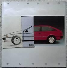 ISUZU PIAZZA TURBO Car Sales Brochure 1985 #ICGB/10/85