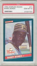 Barry Bonds Pirates 1986 Donruss Rookies #11 Rookie Card rC PSA 10 Gem Mint QTY