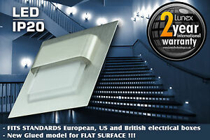 LUNEX DIAMOND DESIGN 0.8W LED RECESSED WALL LIGHT - STAIRS,CORRIDORS - 7 COLORS