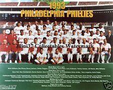 1993 PHILADELPHIA PHILLIES BASEBALL WORLD SERIES 8X10 TEAM PHOTO SCHILLING KRUK