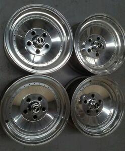 Globe Centerline Ford XR XY GT XC XD Valiant VH CL 14 x 7 polish new nuts/caps