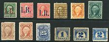 USA 1860-90 REVENUES + TELEGRAPH +PROPRIETARY + PERFIN etc 12 stamps SOME UNUSED