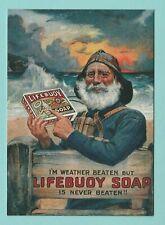 ADVERTISING  -  ROBERT  OPIE  POSTCARD  -  LIFEBUOY  SOAP