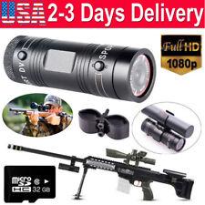 32GB Gun Camera 1080P Bike Motorcycle Sports DV Action Cam For Shotgun Hunting