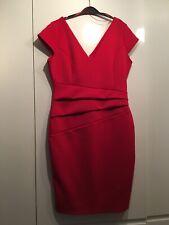 Red Lipsy London Dress Uk Size 16