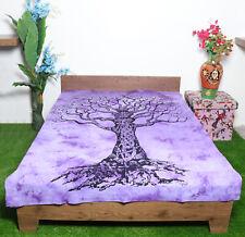 Mandala Tapestry Single Size Cotton Tree Of Life Purple Wall Decor Wallhanging