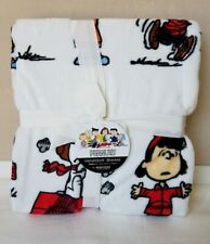 New Berkshire Snoopy Peanuts Lucy Charlie Brown Velvetsoft Blanket Twin 60x90