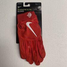 NEW Nike Huarache Elite Baseball Batting Gloves Red Size Large PGB642-663