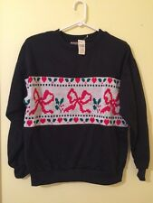 NWT Vintage Tacky Ugly CHRISTMAS HOLIDAY PARTY SWEATER Women's Sweatshirt Size L