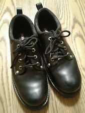 SKECHERS Men's 9 Black SN 7111 Alley Cat Leather Utility Oxford Work Shoes