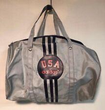 Vintage Adidas Duffle Bag Gray Small USA Gym