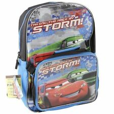 """Backpack 16"""" + Detachable Lunch Bag Cars McQueen Storm NWT"""