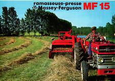 ▬►Prospectus PRESSE RAMASSEUSE MASSEY FERGUSON MF 15 tracteur massey someca ih..