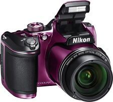 Nikon Coolpix B500 (Plum) 16MP Digital Camera with 40x Optical Zoom