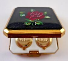 VINTAGE STRATTON ENAMELLED CONTACT LENS CASE