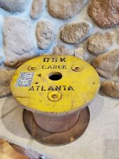 Vintage Rustic Wooden Cable Wire Reel Spool Table Original Finish