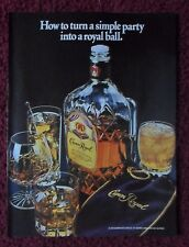 1983 Print Ad Crown Royal Whiskey ~ How to Turn a Simple Party Into a Royal Ball