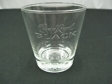 1 Crown Royal BLACK Whiskey Rocks Lowball Cocktail Liquor Drinking Glass(c1)