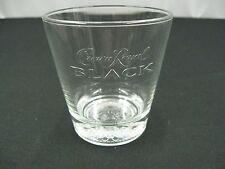 1 Crown Royal BLACK Whiskey Rocks Lowball Cocktail Liquor Drinking Glass(c1)