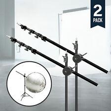 2Pc Photo Light Reflector Holder Holding Panel Arm Bar Grip Bracket Photography