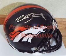 Denver Broncos Rookie Punter RILEY DIXON Signed Mini Helmet