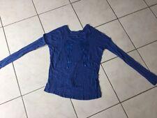 Pull tee-shirt BERENICE taille XS/S bleu bon état