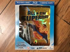 All Star Superman Blu-Ray + DVD Movie Exclusive Action Figure Boxed Set RARE OOP