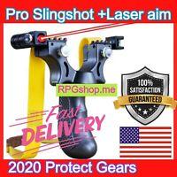 2020 Professional Outdoor Hunting Marksmanship Slingshot Assist Aim Steel PRO