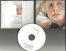 NICKY LOVE Because of you RARE 2000 USA PROMO radio DJ CD single MINT
