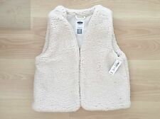 NEW OLD NAVY GIRLS FAUX SHEARLING BEIGE VEST JACKET WINTER SZ EXTRA LARGE 14 XL