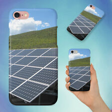 BLACK AND SILVER SOLAR PANELS HARD BACK CASE FOR APPLE IPHONE PHONE