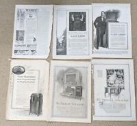 Lot of 6 Phonograph PRINT ADS 1917 Record Please Edison, Victor, Aeolian, Starr