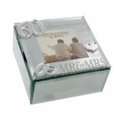 60th Diamond Wedding Anniversary Gift Trinket Box With mirror WG61660