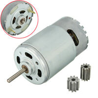 12V 30000RPM Electric Motor Gear Box W/ 2 Gears For Kids Ride On Car Toy Parts