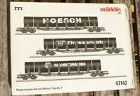 Märklin 47142 H0-3-teiliges Röhren-Transport-Set mit Rungenwagen MHI neuwertig