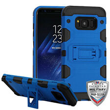 Blue Black Storm Tank Hybrid Protector Case Cover For SAMSUNG Galaxy S8