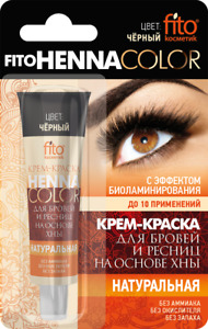 Natural Henna Cream Black Graphite Choco Brown Eyebrow Lashes Tint Ready to use