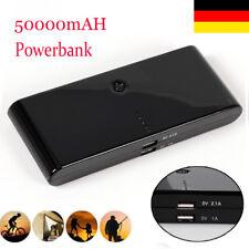 PowerBank Akku extern 50000mAh Ladegerät für Iphone 7 8 6 S Samsung Galaxy S5 S6