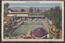 Postcard Palm Springs Ca Racquet Club Swimming Pool Bird's Eye Aerial view 1930s