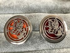 Car Air Freshener Essential Oil Aromatherapy Diffuser. Fits on Vent. Spare pads