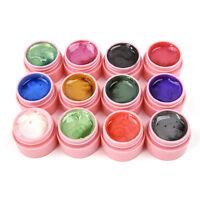 UK 12 Colors Manicure 3D UV Sculpture Gel Nail Art Tip Creative Decor Beauty