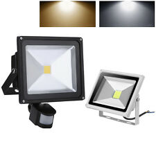 PIR LED Floodlight Motion Sensor 10/20/30/50/100W Security Flood Light Warm Cool