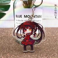 Attack On Titan Anime plastic Keyring keychain Cosplay Acrylic Key Ring/_EYL