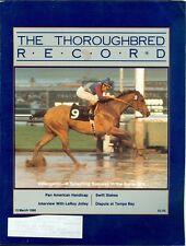 1986 Thoroughbred Record Magazine: Videogenic Wins Santa Anita/Pan American