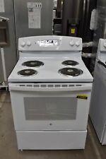 "New listing Ge Jb256Dmww 30"" White Freestanding 4 Coil Electric Range Nob #116453"