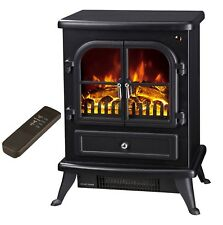 Galleon Fires AGENA Electric Stove with Remote Control - Electric Fire - Black