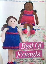 Knitting Pattern Best Friends 2 poupées avec robe enfant jouet poupée patron 33 cm